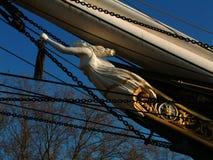 Boegbeeld van Cutty Sark, Greenwich, Londen Stock Afbeeldingen