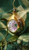 bożego narodzenia balowy złoto jeden Zdjęcie Royalty Free