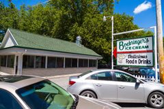 Boehringers Ice Cream Drive-In. Adamstown, PA - August 7, 2016: Boehringer's Ice Cream is a popular, decades-old drive-in on Route 272 in northern Lancaster Royalty Free Stock Image