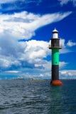 Boei. Oresundsbron. Van de verbindingsdenemarken Zweden van de Oresundbrug de Oostzee. royalty-vrije stock foto