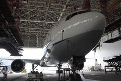 Boeing 767 Ð¡-check royalty free stock photography