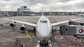 Boeing 747 έτοιμο για το pushback στον αερολιμένα της Φρανκφούρτης στοκ φωτογραφίες με δικαίωμα ελεύθερης χρήσης