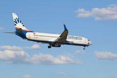 Boeing-737 ήλιος σαφής Στοκ Εικόνα