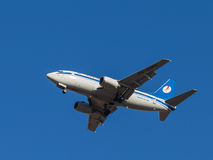 Boeing 737 αερογραμμές Belavia Στοκ Εικόνες