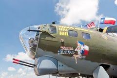Boeing β-17 αμερικανικό βομβαρδιστικό αεροπλάνο εποχής Δεύτερου Παγκόσμιου Πολέμου Στοκ φωτογραφία με δικαίωμα ελεύθερης χρήσης