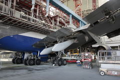 Boeing 747 γ-έλεγχος στοκ φωτογραφία με δικαίωμα ελεύθερης χρήσης