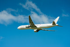 Boeing 777 συμμαχία αστεριών Στοκ εικόνα με δικαίωμα ελεύθερης χρήσης