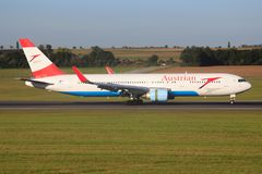 767 boeing Royaltyfri Foto