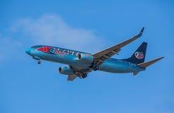 Boeing 737-800 Fotografering för Bildbyråer