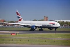 777 boeing Royaltyfri Bild