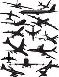 Boeing 707 silhouetten vector illustratie