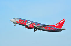 Boeing 737. Jet2 Boeing 737 taking off from Manchester Airport royalty free stock photography