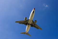 Boeing 737-300 airplane. Manufactured by the Boeing Company in Europe, is a technologically advanced large Royalty Free Stock Images