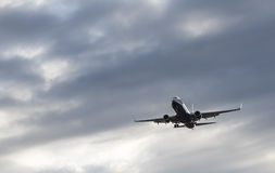 Boeing 737-800 Is Flying In The Sky Royalty Free Stock Photo
