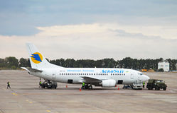 Boeing 737 jet aircraft of Aerosvit Ukrainian airlines Stock Photos