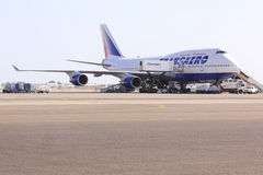 Boeing 747 Foto de Stock Royalty Free