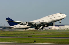 Boeing 747-400 Airplane Takeoff Royalty Free Stock Photography