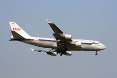 Boeing 747-400  thaiairway retro Stock Image