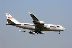 Boeing 747-400  thaiairway retro. Boeing 747-400 thaiairway retro,  Landing from Bangkok airport, to Chiangmai Stock Image