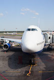 Boeing-747 in Domodedovo airport in Moscow, Russia Royalty Free Stock Image