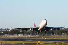 Boeing 747 jet airliner taking off. From Sydney Airport, Australia Royalty Free Stock Images