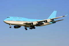 Boeing 747 jet in flight Royalty Free Stock Image