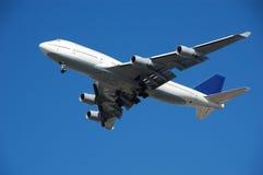 Boeing 747 jumbo passenger jet. Large heavy passenger jet airplane for international long distance travel Royalty Free Stock Image