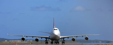 Boeing 747 jumbojet royalty-vrije stock foto