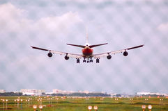 Boeing 747 Landing Royalty Free Stock Images