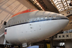 Boeing 747 Nose in National Air and Space Museum Stock Image