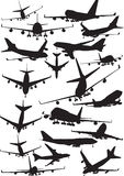 Boeing 747 silhouettes Stock Photos