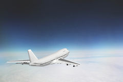 Boeing 747 in sky. Boeing 747 flying above the clouds in the sky Royalty Free Stock Photography