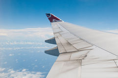 Boeing 747 wing Royalty Free Stock Photo