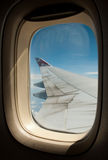 Boeing 747 wing Stock Photo