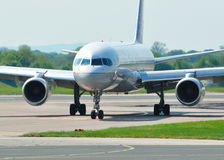 Boeing 757. Taxiing at Manchester Airport stock image