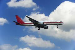 BOEING 757-200 airplane. Manufactured by the Boeing Company in Europe, is a technologically advanced large Stock Photo