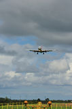 Boeing 757 on it's final approach Royalty Free Stock Photo