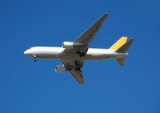 Boeing 767 cargo airplane. Freight and shipping industry delivering cargo worldwide Stock Images