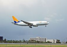 Boeing 767 cargo jet. Widebody commercial air transport stock photo