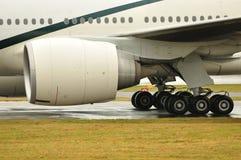 Boeing 777 Straalmotor stock foto