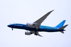 Boeing 787 Dreamliner takes off Royalty Free Stock Photo