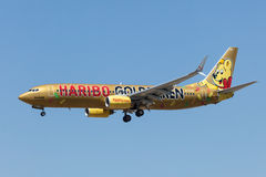 Boeing 737-800 aerei della linea aerea di TUIfly Immagine Stock Libera da Diritti