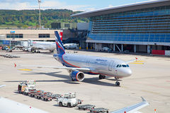 Boeing 737 Aeroflot Fotografia Royalty Free