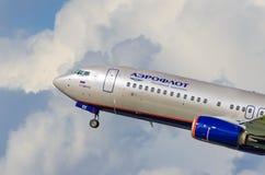 Boeing 737 Aeroflot-Fluglinien, Flughafen Pulkovo, Russland St Petersburg im August 2016 Stockfotos