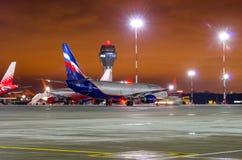 Boeing 737 Aeroflot-Fluglinien, Flughafen Pulkovo, Russland St Petersburg am 22. November 2017 Stockfoto