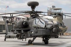 Boeing AH-64 Apache attackhelikopter Arkivbild