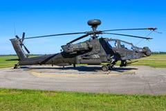 Boeing AH-64D Apache d'armée de l'air des États-Unis images libres de droits
