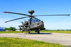 Boeing AH-64D Apache od Stany Zjednoczone siły powietrzne Obrazy Stock