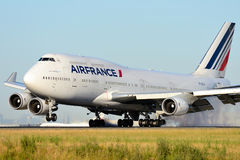 Boeing 747 Air FRANCE. Boeing 747-400 F-GITH at Paris Roissy Charles de Gaulle Stock Image