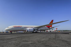 Boeing 787-8 Air India Arkivfoton